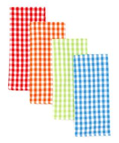 Take a look at this Summer Gingham Dish Towel Set by Design Imports on #zulily today!