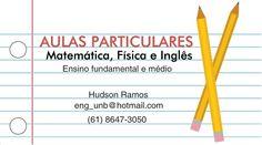 Aulas particulares de matemática, física e inglês - ZIP Anúncios