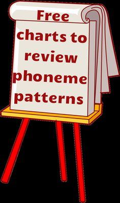Free charts to review phoneme patterns! These charts provide a comprehensive review of words that can be decoded from each spelling pattern. The size of the charts can also be adjusted. Great to use on the smart board!