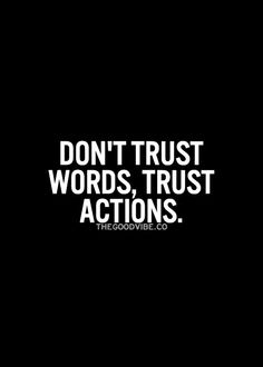 #words vs. actions