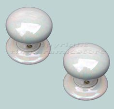 1 x Mother Of Pearl Porcelain Ceramic Mortice Door Knob Handle Set ...