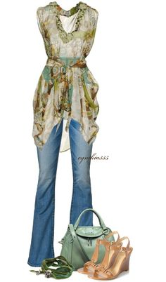 """Colorful Kaftan"" by cynthia335 on Polyvore"