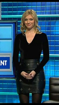 Rachel Riley in leather Most Beautiful Women, Amazing Women, Beautiful Females, Amazing People, Racheal Riley, Anna Richardson, Celebrities In Stockings, Sexy Outfits, Cute Outfits