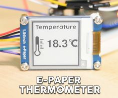 Dear friends welcome to another project video! Today, we are going to use this small e-paper display with the ESP32 board and build a simple thermometer! It is a...