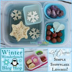 Fun winter lunchbox ideas packed in @EasyLunchboxes