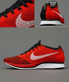 more photos 3fc16 7d418 Nike Flyknit Racer Red Black hypespec.com ... Nike Flyknit Racer Red