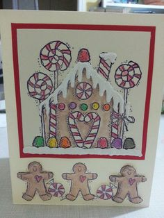hand made Christmas card by Shelly Skinner