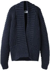 MM6 by Maison Martin Margiela  Chunky Hand-Knit Cardigan