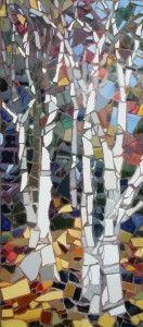 birch trees mosaic