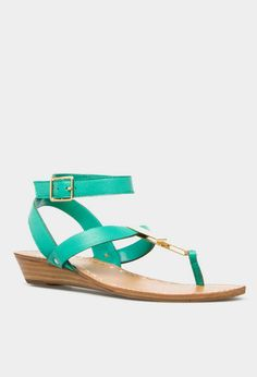 Indulge in a pedicure and a bright pair of spring sandals! #spring #fashion