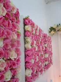 Rose covered wall. Be Different...Act Normal: Setting the Table for Valentine's Day