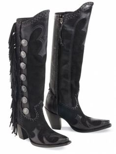 Brands :: Lane/Double D Ranch boots :: LANE~DD RANCH VAQUERO FRINGED BOOT! - Native American Jewelry|Ladies Western Wear|Double D Ranch|Ladi...