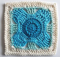 Arafura is one of my Siren's Atlas Collection patterns. Crochet Squares Afghan, Crochet Square Patterns, Crochet Blocks, Afghan Patterns, Crochet Blanket Patterns, Crochet Motif, Knitting Patterns, Crochet Afghans, Crochet Granny