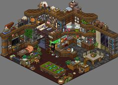 Habbo Hotel, Pixel Life, Durga Painting, Pixel Art Background, Modern Apartment Design, Pixel Animation, Isometric Art, Kawaii Room, Art Prompts