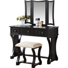You'll love the Makeup Vanity Set with Mirror at Wayfair - Great Deals on all Furniture  products with Free Shipping on most stuff, even the big stuff.