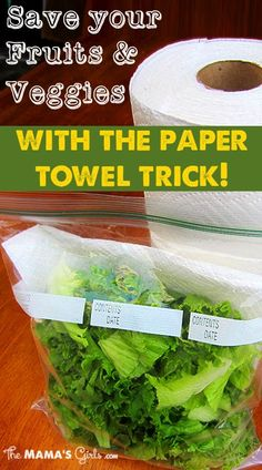 1. Thoroughly wash the veggies and shake them off the best you can in the sink.  2. Place the washed veggies in a gallon ziplock bag.  3. Put a couple of clean, dry paper towels in the bag with the veggies.  Voila! Your veggies have been saved! The paper towel does all the work. The only effort you make is to just check on it every few days and if the paper towel is soaked, switch it out with a dry one.