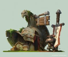 ArtStation - Ye Lil' Gladiators' Armory, Jourdan Tuffan
