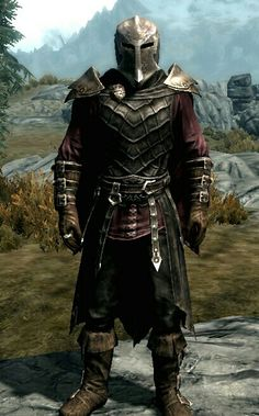 """The Heretic"" (Variant 1) by Mason  Dawnguard Full Helmet, Gauntlets & Boots  Vampire Royal Armor"