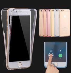 Shockproof-Hybrid-Back-Front-Rubber-Clear-Cover-Case-For-iPhone-5-SE-6-6S-Plus
