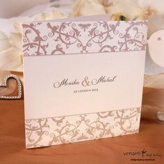 Zaproszenia ślubne ze wzorkiem