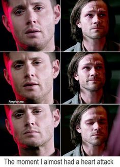 "The moment my heart dropped and I yelled ""no Dean don't you dare kill Sammy! Don't you dare!"""
