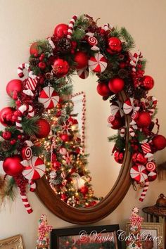 Candy Cane Christmas Decorations are one of the popular Christmas decorations and it is really wonderful. Peppermint candy canes define the spirit of Christmas in [. Christmas Mantels, All Things Christmas, Christmas Holidays, Christmas Wreaths, Christmas Crafts, White Christmas, Merry Christmas, Christmas Candy Cane Decorations, Christmas Themes