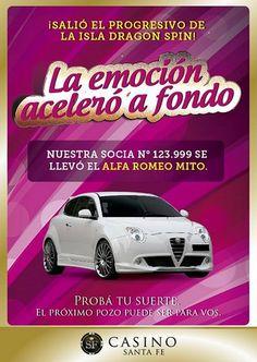 Casino Santa Fe entregó un Alfa Romeo Mito Alfa Romeo, Fes, Santa Fe, Door Prizes