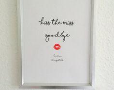 Lipstick Kiss Frame Hen Party Night Do Bachelorette keepsake | Etsy