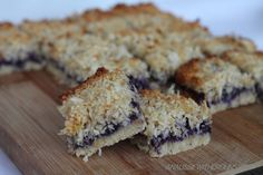 An Aussie With Crohns: Berry & Coconut Slice (Paleo & SCD) Use Flax Egg and Maple Syrup to make vegan
