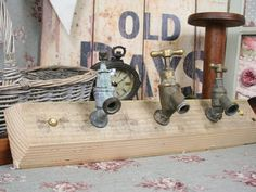 Industrial chic wall hangers