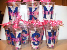 Personalized Tumbler 16 oz w/Straw Bridal Party  by cgirard5, $10.00