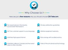 Here are just a few reasons why you should choose CIK Telecom… Day