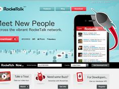 Landing page for RockeTalk