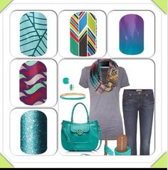 Jamberry nail wraps!!! If you haven't tried them you should!! Contact me www.markedmamanails.com