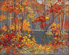 Tom Thomson - The Pool - I could look at this painting all day long! Should you ever be in Ottawa, make sure you go to the National Gallery and admire his work and the work of the Group of Seven Group Of Seven Art, Group Of Seven Paintings, Most Famous Paintings, Famous Artists, Emily Carr, Canadian Painters, Canadian Artists, Tom Thomson Paintings, Inspiration Art
