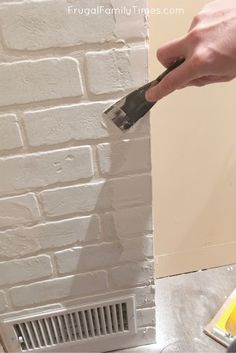You CAN make a faux brick wall look real! A brick accent wall adds so much character and texture to a boring room. This post covers how to install brick paneling to make an authentic looking fake brick wall - here's how to hide seams in brick paneling. Brick Veneer Panels, Faux Brick Wall Panels, Brick Wall Paneling, Black Brick Wall, Brick Accent Walls, Faux Walls, White Brick Walls, White Paneling, Fake Brick Walls