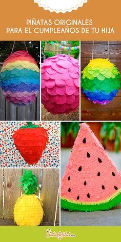 La piñata es un elemento agregado de mucha diversión en los cumpleaños, debe ser llamativa y original. Existen muchos estilos, pero si quieres sorprender a todos tus invitados y que tu hija esté a gusto, atrévete a innovar con estos originales tipos de piñatas que te presentaremos a continuación.
