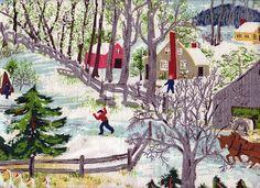 Early Springtime on the Farm Anna Mary Moses