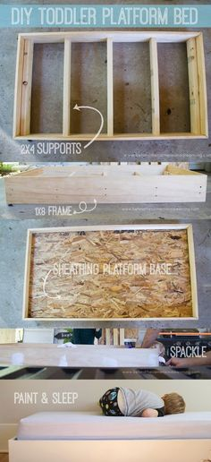 Diy toddler platform bed