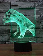 sárkány karom érintés tompítása 3D LED éjszakai fény 7colorful dekoráció hangulat lámpa újdonság világítás karácsonyi fény