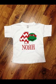 Kids ninja turtle birthday shirt!!