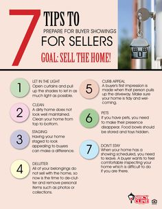"7 Tips To Get Your Home Prepared for Showings When Selling It [From Real Estate Professional] ✦ Your home is on the market and you want it to sell fast for the highest possible price. Here are some tips to get your home ""show ready"" for buyers."