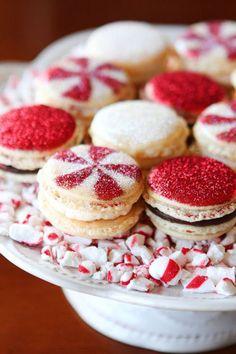 Beautiful Christmas Macarons