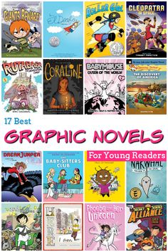 17 Best Graphic Novels for Kids - Learn more about 17 of the best graphic novels for kids in grades 2 through 5. Your kids will love these exciting stories!