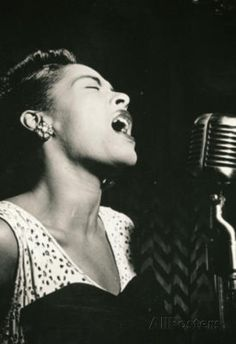 Billie Holiday Signing Archival Photo Music Poster Print Poster