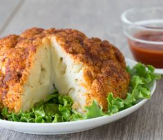 """A great way to prove that you can """"Buffalo"""" a whole lot more than just chicken wings. Cut the cauliflower into florets if you'd like to make this speedier."""