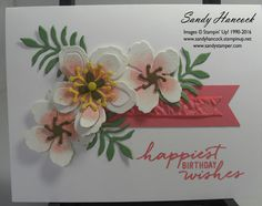 My friend, Carol, came over today and we had fun designer another card with the beautiful Botancial Builder Framelits. The new Flirty Flamingo card stock is attached to the back of the front of the card so that it will...