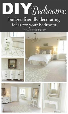 DIY Bedrooms: Budget Friendly Decorating Ideas Anyone Can Use! You won't believe what this bedroom used to look like!