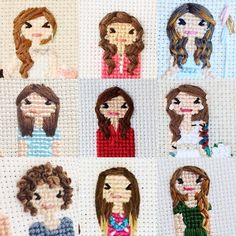 "119 Likes, 6 Comments - Cross Stitch Portraits (@familystitch) on Instagram: ""❤️"""