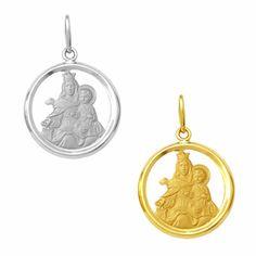 Medalha em Ouro de Nossa Senhora do Carmo - Vazada